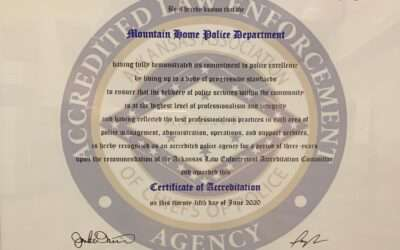 Police Department Receives Certificate of Accreditation